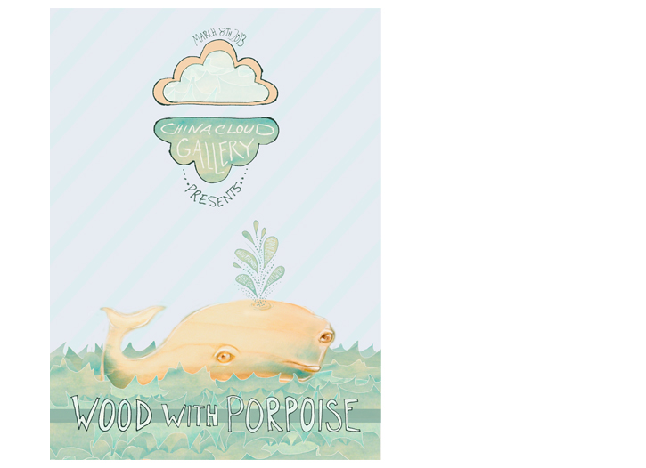 Wood with Porpoise - China Cloud Gallery Poster